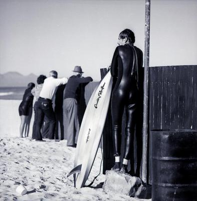 Surfer Muizenburg Cape South Africa 1983